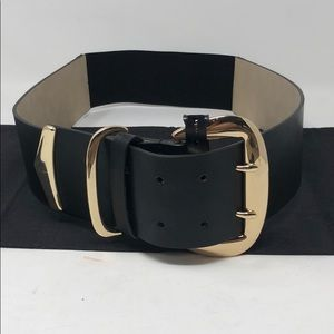 INC Braided Stretch Panel Faux-Leather Waist Belt L//XL Natural NWT